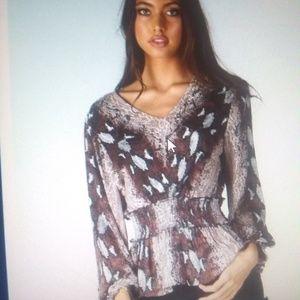 Tops - V neck blouse fall colors